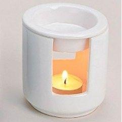 Aroma lampe - Hvid. Til æteriske olier. www.mellowway.dk
