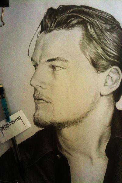 Leonardo DiCaprio portrait by Spizou (print image)