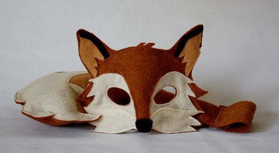 @Lindsey Fox This is your Halloween costume. I can accept no substitutions.   Xander Fox Mask and Tail Pretend Play Costume Woodland on Etsy, 254,35kr