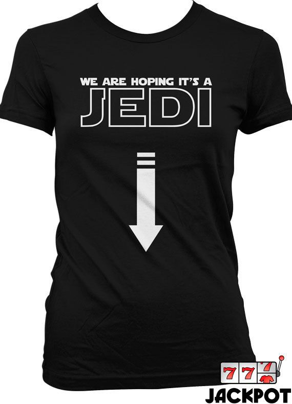 Funny Pregnancy Shirt We Are Hoping For A Jedi T by JackPotTees