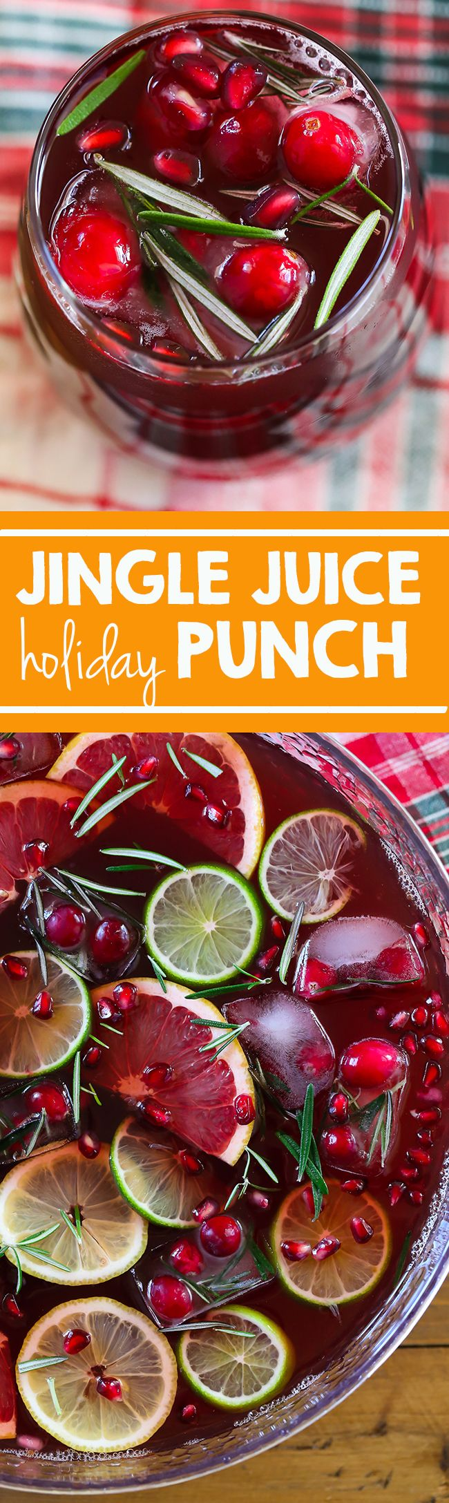 Jingle Juice Holiday Punch - Swanky Recipes - Sweet Tea I Holiday Drink I Holiday Beverage I Christmas Food I Cranberry I Pomegranate I Santa I Winter I Party food  #christmas #jinglejuice #drink