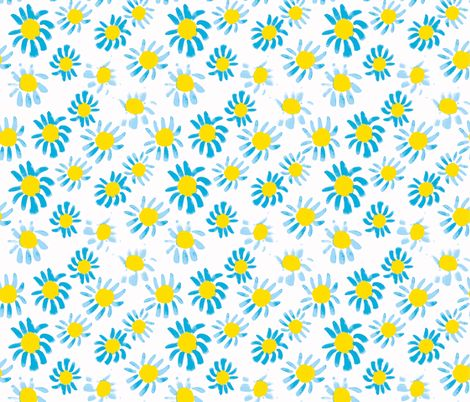 daisy blues fabric by kathryn_mcfarlane on Spoonflower - custom fabric