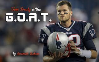What Does Tom Brady GOAT Mean? Top 10 Memes Tom Brady GOAT means that the quarterback is the Greatest Of All Time. Bradyled the New England Patriots to a comeback win against the Atlanta Falcons. The win gives Brady five Super Bowl championships. Brady is one of the greatest NFL football players of all-time. It's difficult to believe that he was picked in the sixth round of the 2000 NFL Draft. All Tom does is win win win no matter what! Brady has the best postseason record of any…