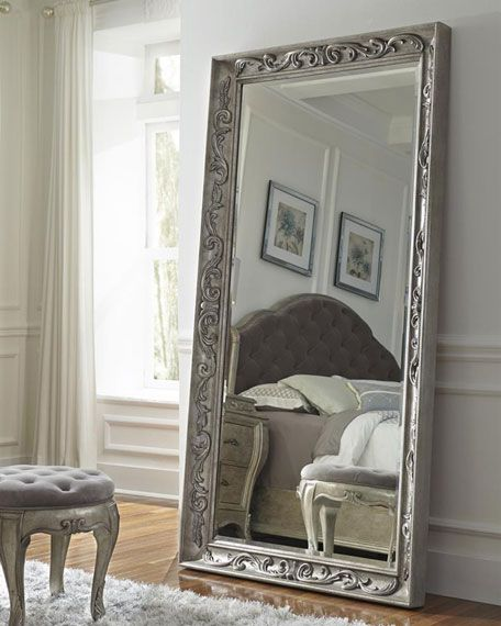 Floor Mirror With French-influenced Decorative Motifs