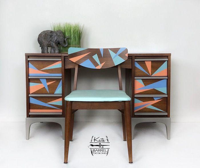 Vintage Mid Century Modern Desk Made By Lane Furniture Company Kateandbarreldesigns