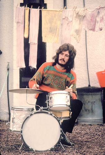 John Bonham at Home in January 1970. Photo credit: Plitz