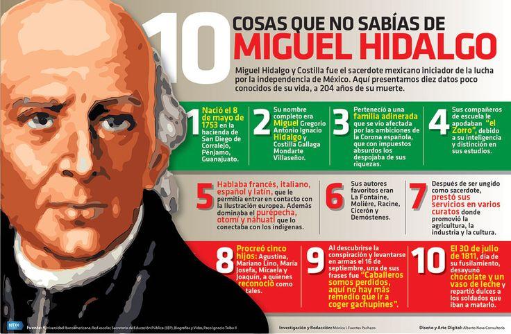 #UnDíaComoHoy de 1811, murió Miguel Hidalgo y Costilla. Checa 10 datos poco conocidos de su vida. #Infographic