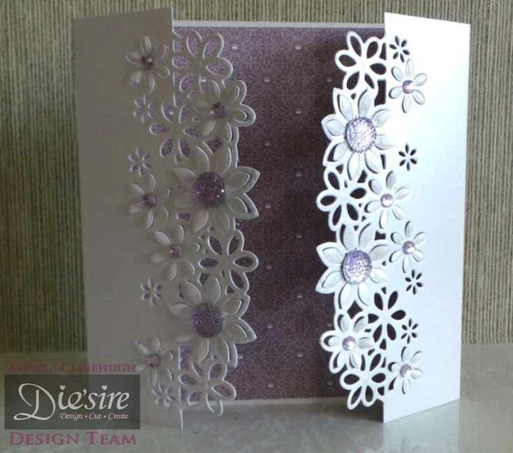 Angela Clerehugh – Die'sire Fancy Edge'ables - 6 x 6 Card – Die'sire Floral Dance Edge'ables – Centura Pearl – Downton Abbey Paper Pad – Gems – Collall Tacky Glue - #crafterscompanion