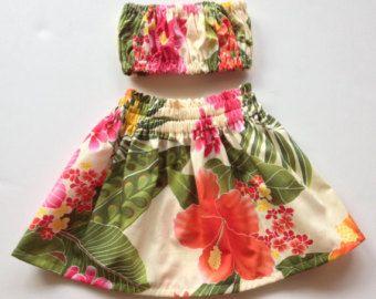 Baby/Kleinkind Hula Rock Outfit von jitterbugcollection auf Etsy