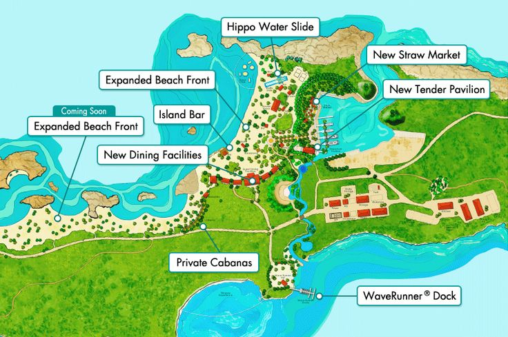 Norwegian Cruise Line | Great Stirrup Cay | took the long trail to the left past the beaches and discovered beautiful places not on this map