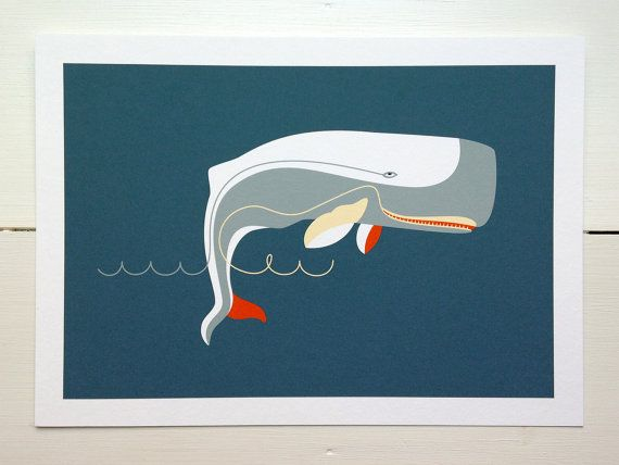 Moby Dick via Etsy