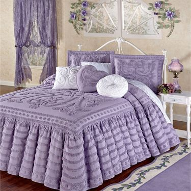 Intrigue Chenille Ruffled Flounce Oversized Bedspread Bedding This is it !!!! Want it !!