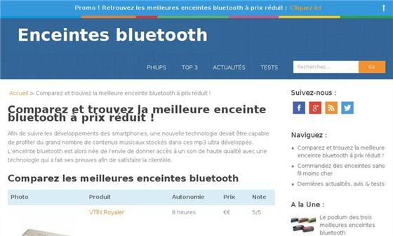 Enceintes bluetooth    Trouvez la meilleure enceinte bluetooth     -
