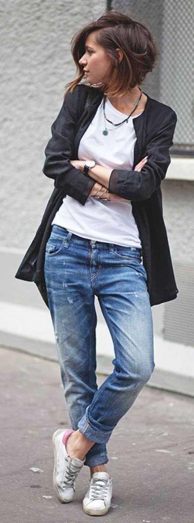 Más de 100 peinados de mujer para Primavera-Verano 2016: Pelo corto con raya al lado                                                                                                                                                                                 Más