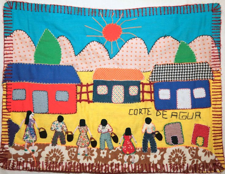 """The power of small pieces of craft - In Chile durng the dictatorship of Pinochet, women made small """"arpilleras"""" to express their grief at the death or disappearances of their dear ones. Foreigners smuggled them out of the country. These little patchwork messages traveled the world, helped raise international awareness of the brutality of the Pinochet regime, and Amnesty International used them to help build pressure to bring down Pinochet."""