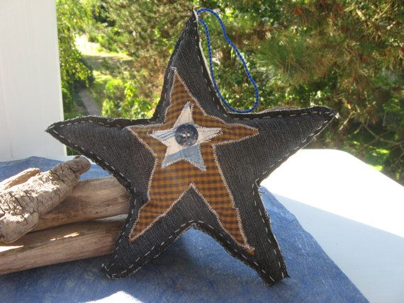 large christmas star ornamentstree topperblue by Voweco on Etsy