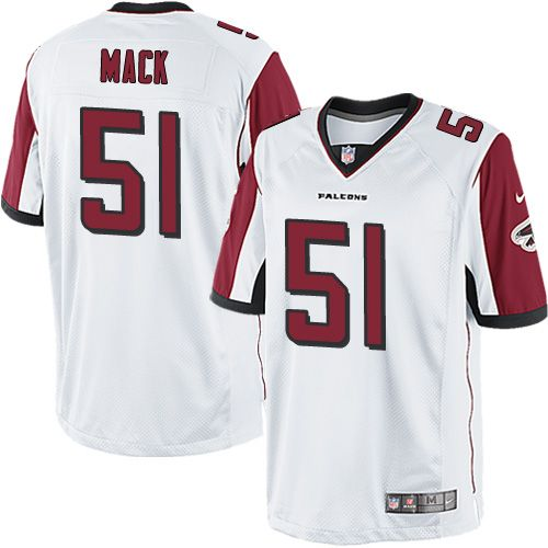 Youth Nike Atlanta Falcons #51 Alex Mack Limited White NFL Jersey
