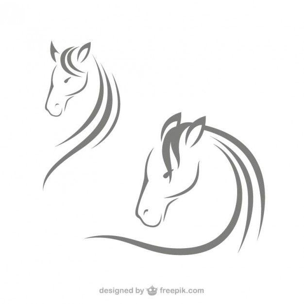 Logotipos cabeça de cavalo Vetor grátis