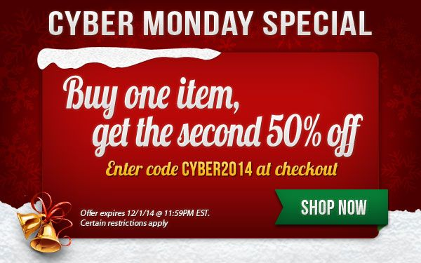 TB Buccaneers Cyber Monday Special - Buy one item, get the second 50% off - SHOP NOW