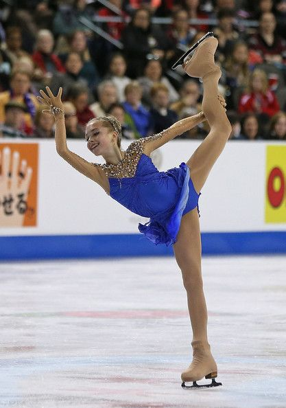 Elena Radionova competes in the Ladies Free Skating during the 2014 Hilton HHonors Skate America competition at the Sears Centre Arena on October 26, 2014 in Hoffman Estates, Illinois.