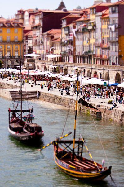 Ribeira, Douro River, Rabelo Boat, Porto  #Portugal
