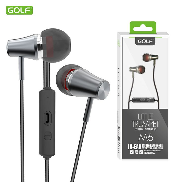 GOLF High Quality Hifi Stereo Sound In-Ear Earphones For iPhone 5/5s/6/7 Samsung S6/S7 Mobile Phone Universal 3.5mm Jack Earbuds