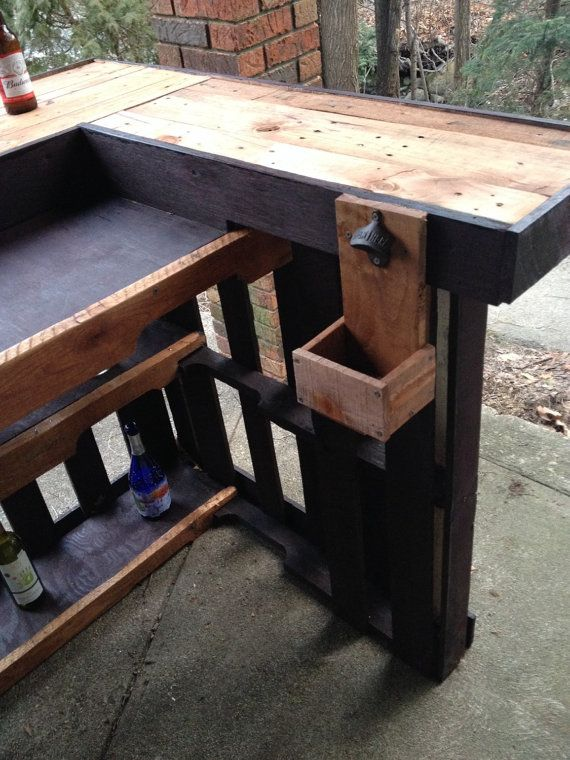 Handmade outdoor Pallet bar by PhilsPalletShop on Etsy