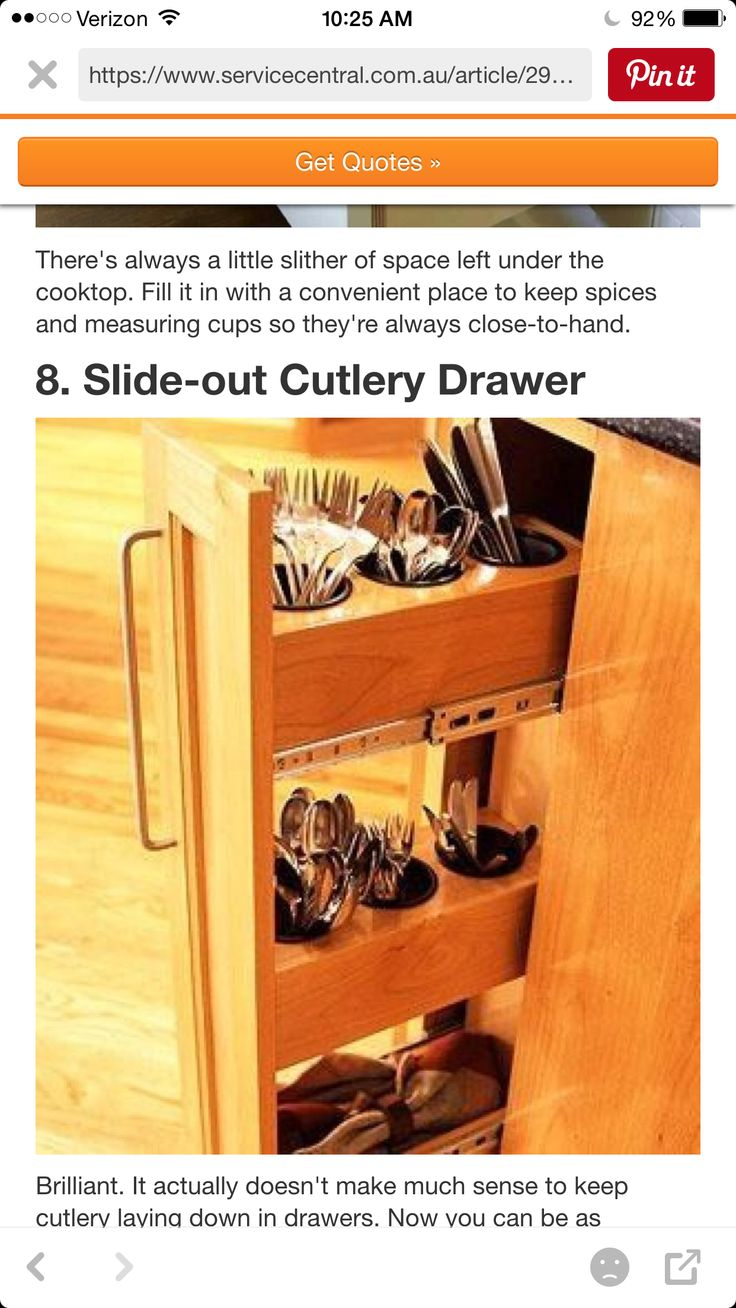 Should We Do This With Our Second Pull Out Door Like This? Or Not · Silverware  StorageSilverware ...