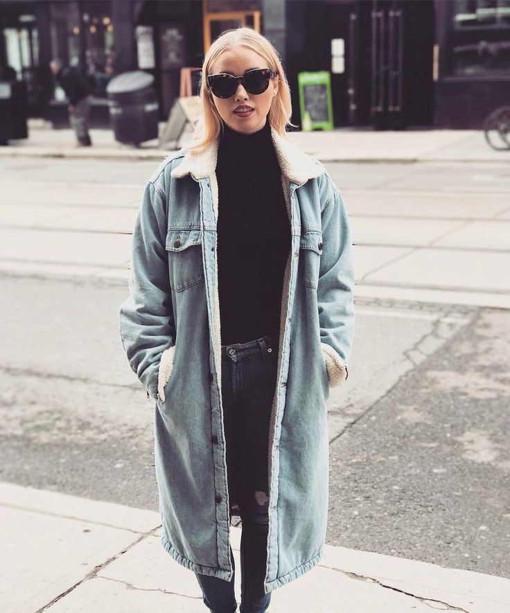 Liz Trinnear in the Murad Coat by Golden by Tna