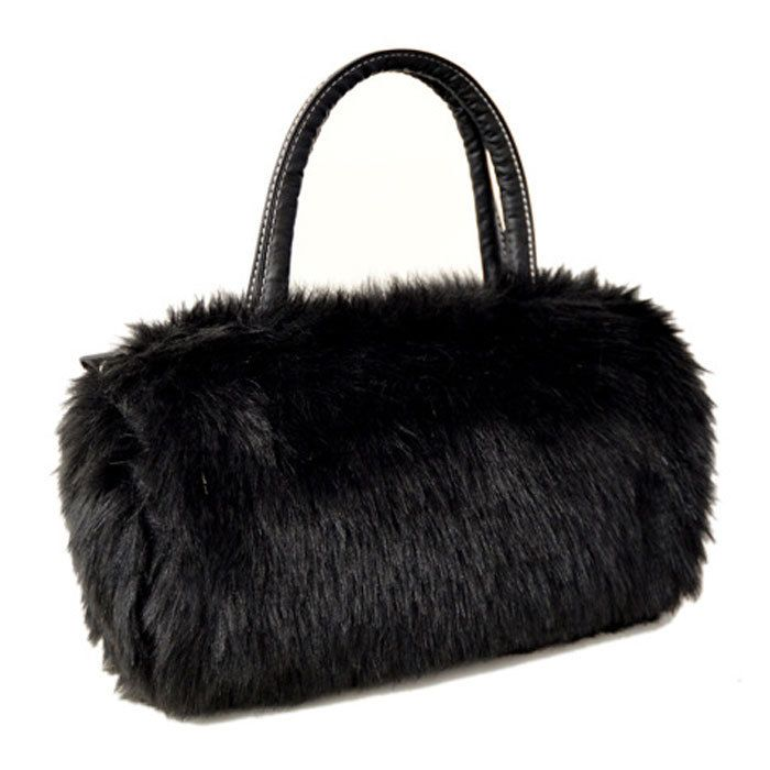 2016 Fashion Handbags Faux Fur Clutch Long Purse Wallet 9 Colors Hot Faux Rabbit Fur Bag Women Plush HandBag Tote Hobo Bag W1