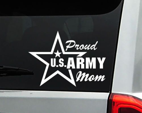 Proud U.S. Army Mom Car Decal Sticker with star - FREE SHIPPING!
