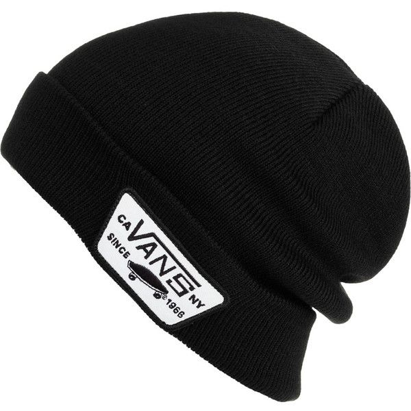 Vans Milford Beanie (€18) ❤ liked on Polyvore featuring accessories, hats, beanies, vans beanie, beanie hats and vans hat