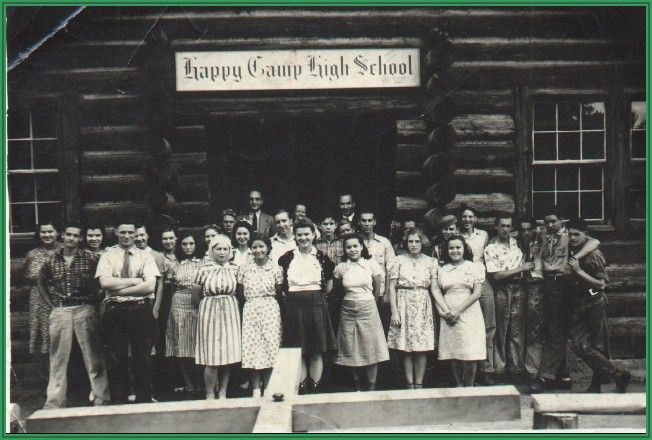 Happy Camp California High School student body 1940  American