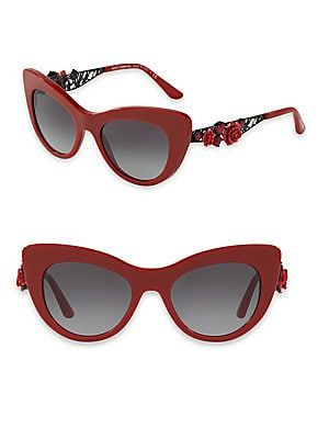 7127739834f Dolce   Gabbana 50MM Embellished Cat Eye Sunglasses