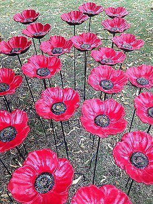 Cast Iron Poppy Bird Bath for Garden Decorative Feeders Metal Flower Birdbath