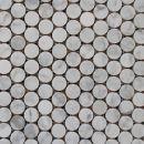 Carrara Pennyround Mosaics http://www.surfacegallery.com.au/tiles/mosaic-tiles/marble-mosaics #carrarapennyroundmosaics #carrarapennymosaics #bathroommosaics #whitemarblemosaics #whitemosaics