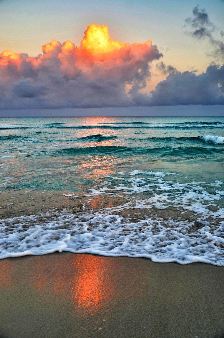 Early morning on Varadero beach , Cuba