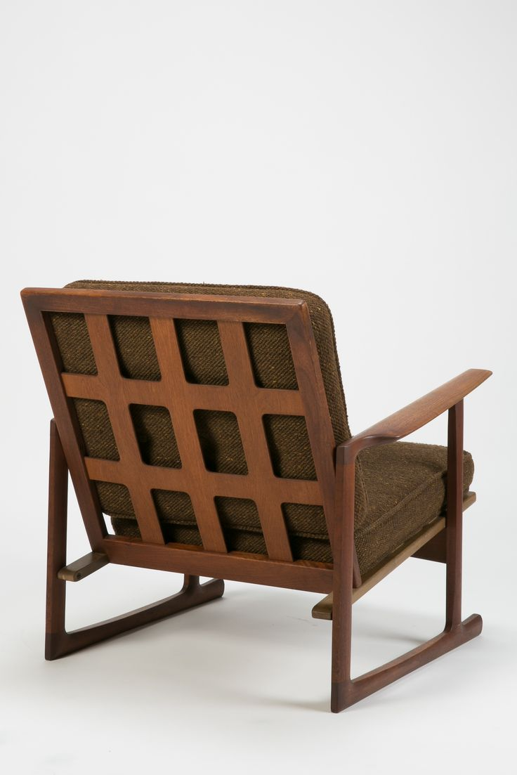 Rare original beech stained chair by eugene gaillard circa 1900 at - Ib Kofod Larsen Teak And Beech Lounge Chair For Selig 1950s