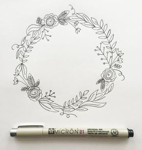 """I'm back with my third post in the """"How to Draw"""" series. (You can view the first two here and here.) I love drawing wreaths but I find myself feeling really overwhelmed when I sit down to draw one. Where do I start? What do I draw? Too sparse? Too full? Ok, well I'm breaking it down step by step today so if you're like me, you won't be overwhelmed any longer. But before we go any further, download your worksheet here. Your worksheet shows you the collection of botanical"""