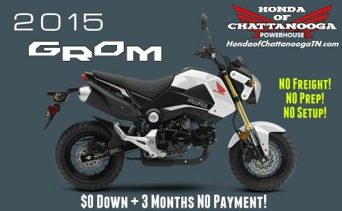 White Honda Grom For Sale - Chattanooga TN / Atlanta, Dalton, Marietta, North GA / North AL area Motorcycle Dealer : Honda of Chattanooga. Let us save you some money with our 2015 Grom Price at www.HondaofChattanoogaTN.com