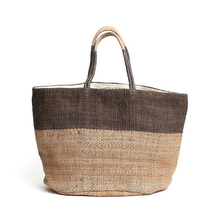 Hand Woven Jute Tote Bag Grey | The Future Kept