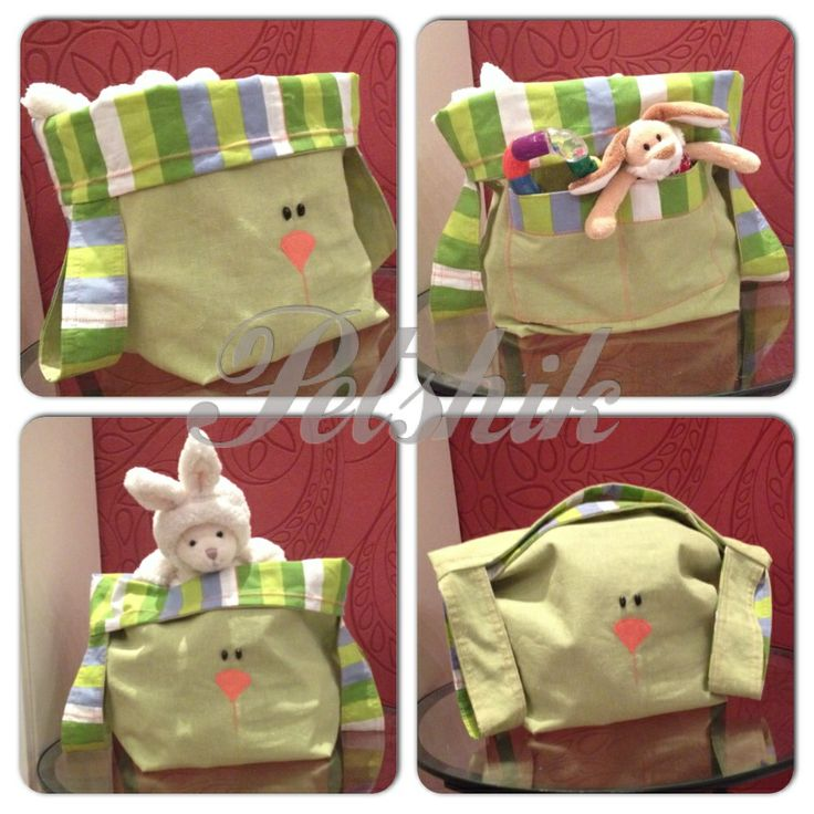 Rabbit bag for toys. Easy and funny :))