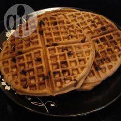 Waffles de Chocolate con Dulce de Leche @ allrecipes.com.ar