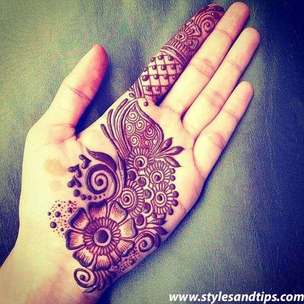 50 Beautiful And Easy Simple Mehndi Designs For Hands Hd Images