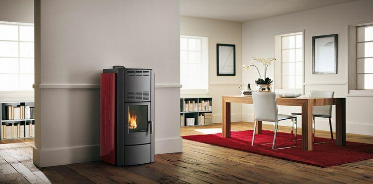 #palazzetti Michela #wood #pellet #stove. for more details http://www.nutechrenewables.com/michella-12kw-wood-pellet-stove-palazzetti-ecofire-aria-range/