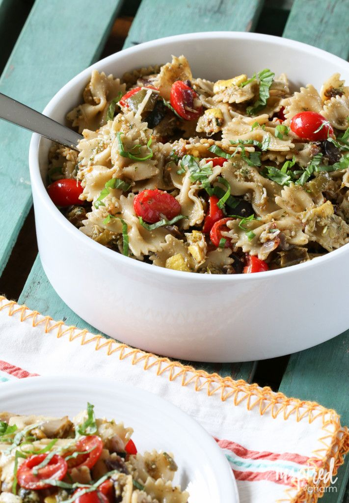 Roasted Vegetable Pasta Salad from @inspiredbycharm
