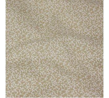 Bavlna béžová, bílé větvičky, š.140
