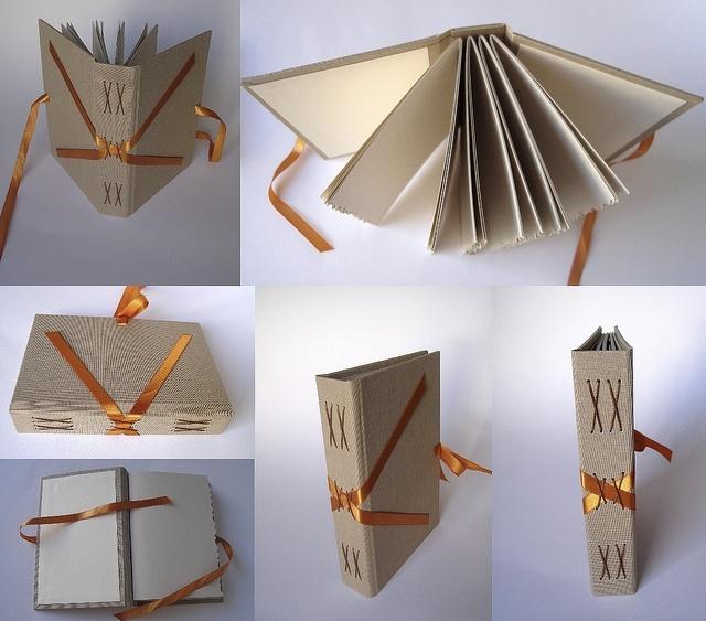 Costura em X com fita/ X sewing with ribbon by gabriela Irigoyen, via Flickr
