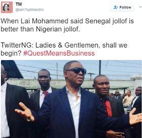 BREAKING NEWS ACROSS THE WORLD  | QUEEN HORLA BLOG : Lai Mohammed said Senegal Jollof Rice is the best ...