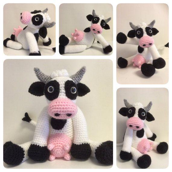 Zizidora Crochet Patterns : Crochet Pattern Bella the Cow Crochet Cow Crochet von Zizidora